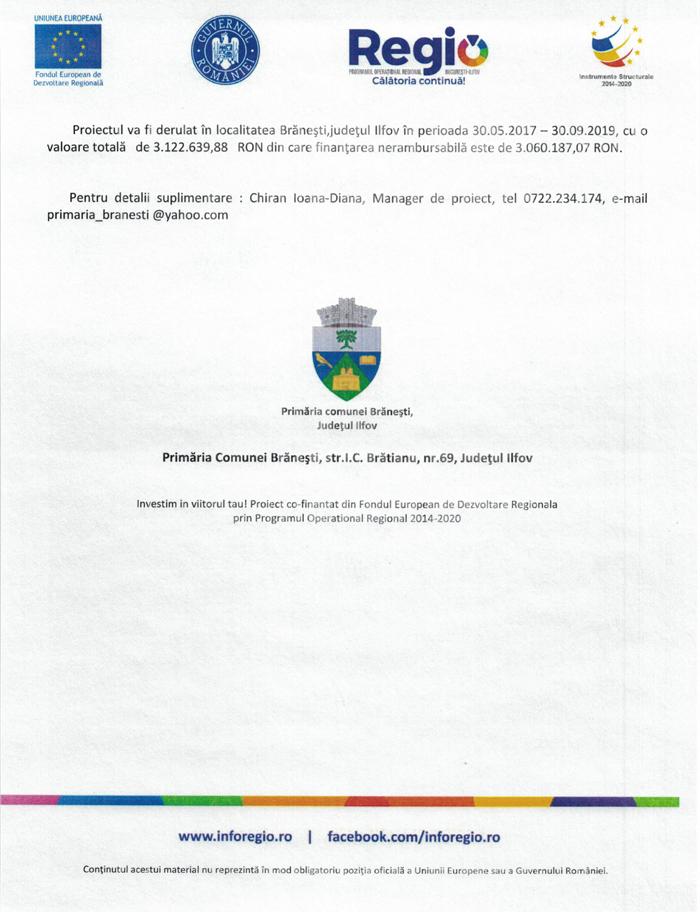 """Comunicat de presa 05.03a 2 Comunicat de presa – Finantare nerambursabila pentru proiectul """"Consolidare si modernizare corp C1 – corp din cadrul Colegiului Silvic Theodor Pietraru""""COD SMIS 121525"""