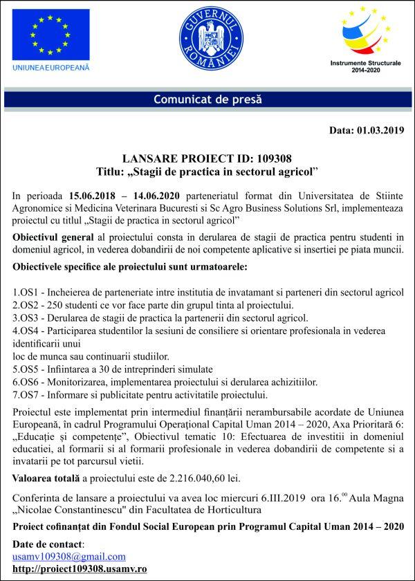 NATIONAL 125 x 175 cm online 07.03 LANSARE PROIECT ID: 109308   Titlu: Stagii de practica in domeniul agricol