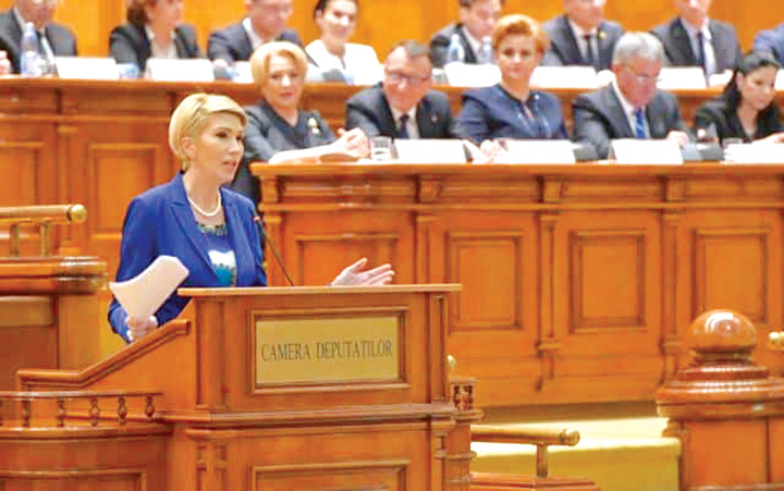 Raluca Turcan in Camera Deputatilor 640x400 Romania, o tara captiva intereselor straine