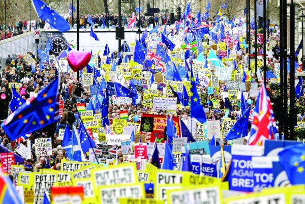 londra 1 Manifestatie uriasa la Londra: cel mai bun acord este niciun Brexit