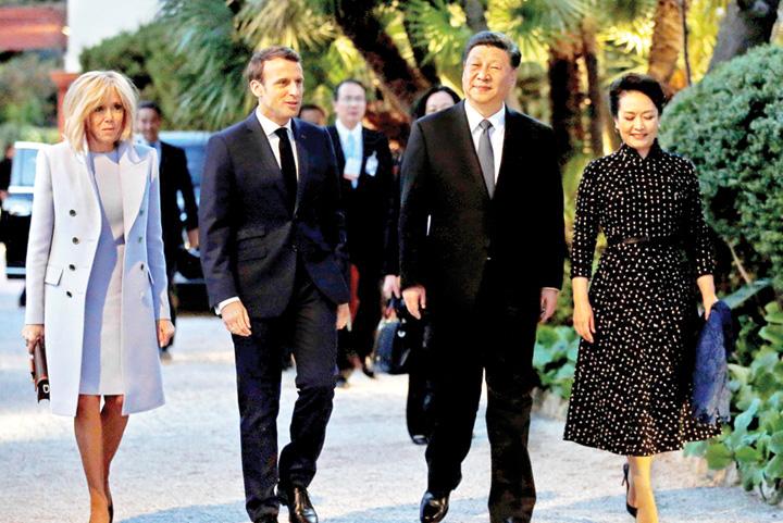 macron xi jinping UE pune Taxa de smecherie Chinei