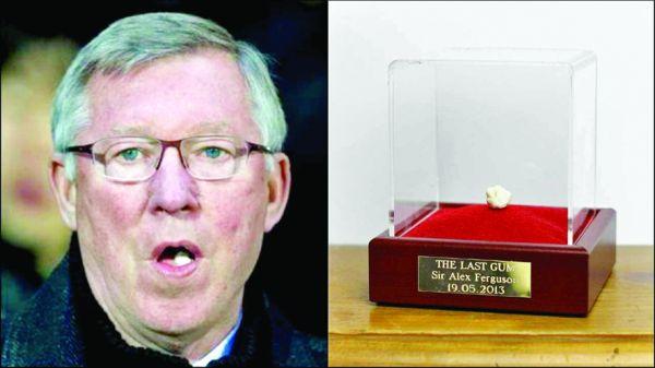 sir alex ferguson s final chewing gum 456.000 de euro pentru guma mestecata de Sir Alex Ferguson