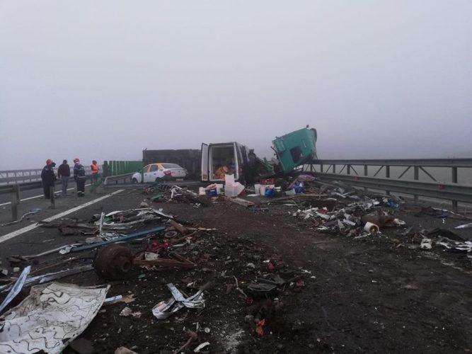 accident constanta 667x500 Accident cu patru raniti si circulatie deviata pe Autostrada Soarelui