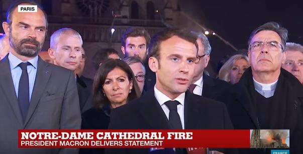 presedinte fr Catedrala Notre Dame va fi reconstruita   anunta presedintele francez (VIDEO)