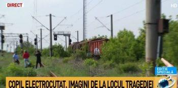 copil 350x174 Incident in Capitala: Copil dus la spital. S a curentat pe un vagon de tren