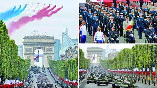 m bun Macron, de Ziua Franţei: între huiduieli şi armata spaţiului