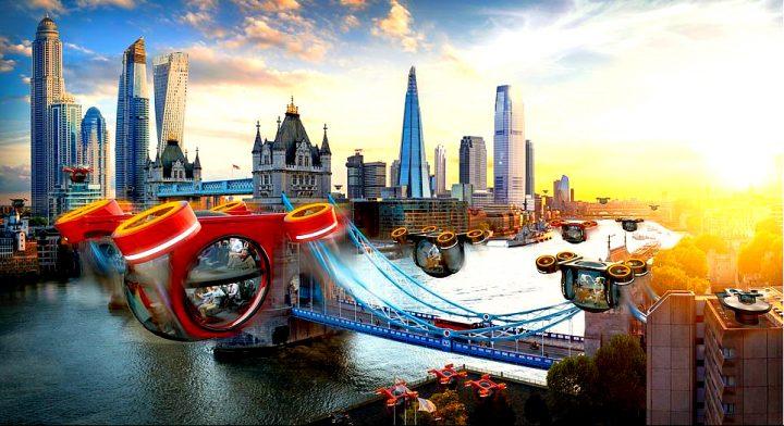 """Traficul spațial lejer în zona London Bridge 720x392 Cum va arăta lumea """"Revoluției Digitale"""" în anul """"senzualității"""" 2069"""